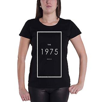 The 1975 T Shirt Original Band Logo Outline Official Womens New Black Skinny Fit