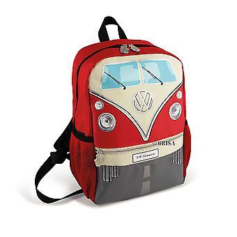 官方大众露营车孩子学校背包袋-红色
