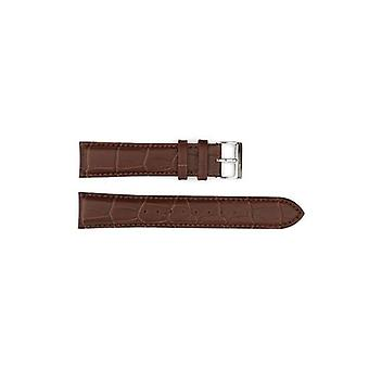Authentic hugo boss watch strap brown crocodile grain 20mm hb471142076