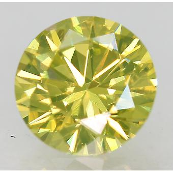 سيرت 1.04 الكناري الأصفر VVS1 جولة رائعة الماس الطبيعي المحسن 6.62mm 3EX