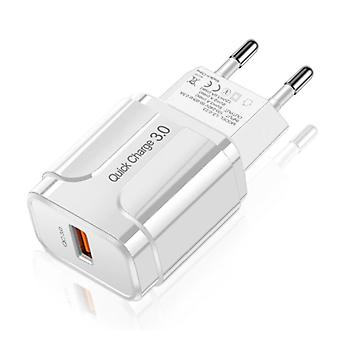 OLAF Qualcomm Quick Charge 3.0 USB Wall Charger Wallcharger AC Home Charger Plug Charger Adapter - White