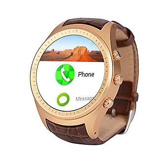 Stuff Certified® Original K18 Plus Smartwatch Smartphone Fitness Sport Activity Tracker Watch OLED Android iPhone Samsung Huawei Gold