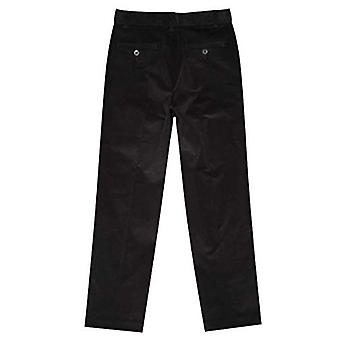 Izod boys Corduroy Flat Front Dress Pant, Black, 12