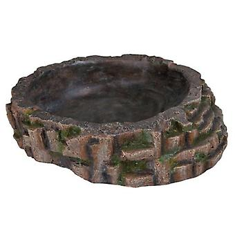 Trixie With Corner Stone Cave & shelf, 16x12x15Cm (Reptiles , Decoration , Caves & Rocks)