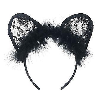 Jewelcity Womens/Ladies Furry Cat Ears bandeau