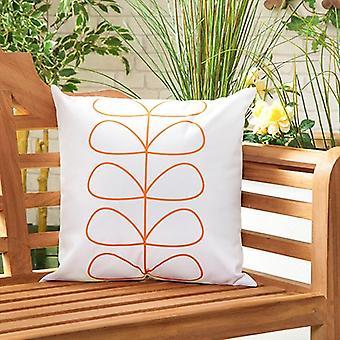 Gardenista Garden Outdoor Scatter Tyyny | Patio Rottinki Tuolit Vaahto täynnä huonekalut Pattern Tyyny | Vedenkestävä | Hypoallergeeninen vaahto murusia täytetty (linjat oranssi)