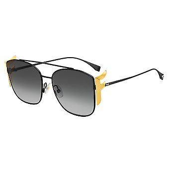Fendi FF0380/G/S 807/9O Black/Dark Grey Gradient Sunglasses