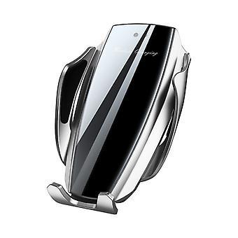 Bakeey vidro temperado 10w qi carregador sem fio sensor de ar porta-telefone do carro para 4,0-6,5 polegadas telefone inteligente