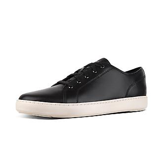 FitFlop Christophe™ Men's Leather Sneakers In Black