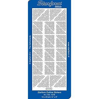 Starform Stickers Corners 6 (10 Sheets) - Gold - 1018.001 - 10X23CM