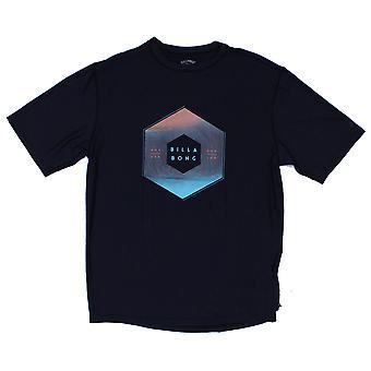 Billabong X-Cess Short Sleeve Rash Vest in Black