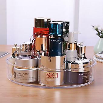 OnDisplay Deluxe Acrylic Circular Cosmetic/Jewelry Organization Tray - Perfect for Vanity, Bathroom Counter, or Dresser