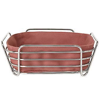Blomus breadbasket big DELARA chromed steel wire cotton liner Withered Rose