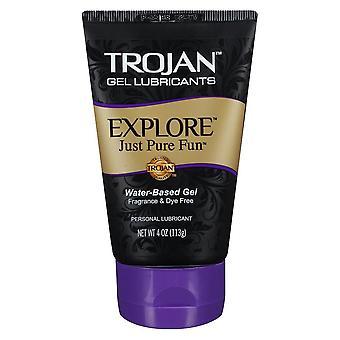 Trojan gel lubricants personal lubricants explore, 4 oz