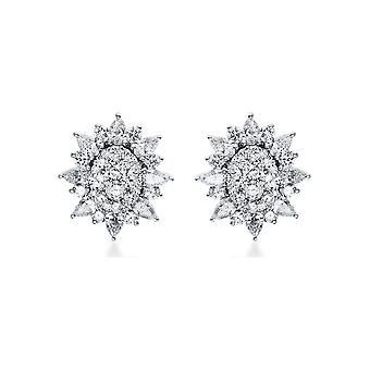 Diamond stud earrings stud earrings - 18K 750/- white gold - 2.13 ct. - 2H589W8-1