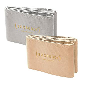 Boobuddy breast support band bundle – beige & grey