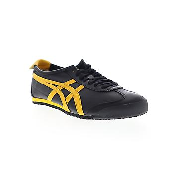 Onitsuka Tiger Mexico 66  Mens Black Leather Low Top Sneakers Shoes