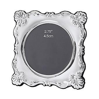 Orton West Small Round Photo Frame - Silver