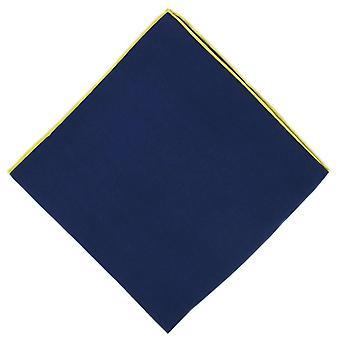 Michelsons af London Shoestring Border lommetørklæde - Navy blå/gul
