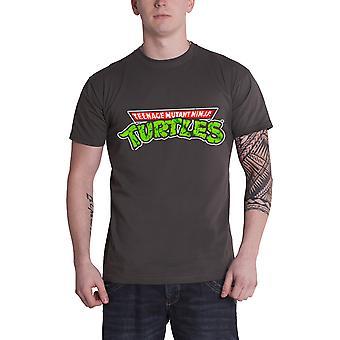 Teenage Mutant Ninja Turtles T Shirt Classic Logo new Official Mens Charcoal