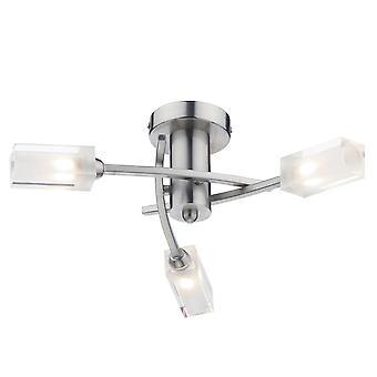Dar belysning Morgan Triple lys Semi Flush montering i Satin Chrome