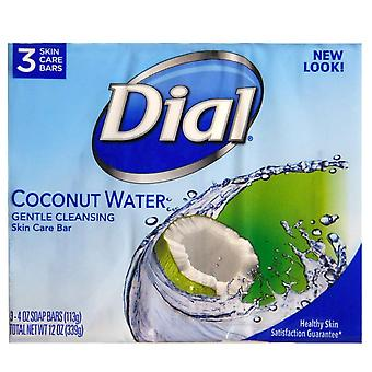 Dial glycerin bar soap, coconut water, 3 ea x 4 oz