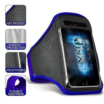 Xiaomi Mi 8 SE XXLarge (dunkelblau) Sport Armband wasserdicht Fitness Handytasche