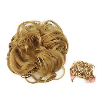 Scrunchie cu păr sintetic - Maro