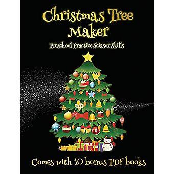 Preschool Practice Scissor Skills (Christmas Tree Maker) - This book c