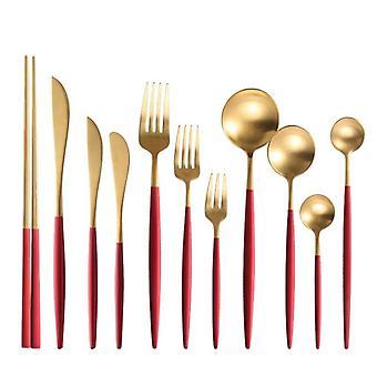 Reusable Bamboo Cutlery Set Portable Tableware Wooden