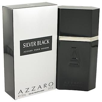 Argent noir Eau De Toilette Vaporisteur par Azzaro 3.4 oz Eau De Toilette vaporisateur