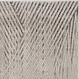 3' x 5' Ivory or Grey Geometric Lines Area Rug
