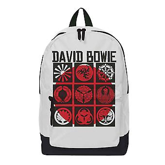 David Bowie Backpack Bag Live In Japan Logo new Official Rocksax White