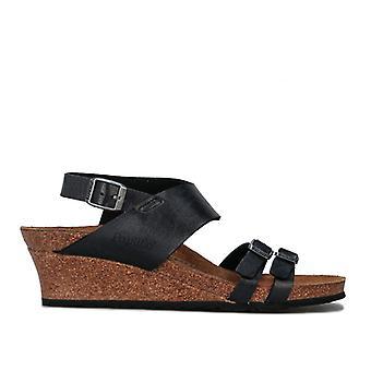 Women's Papillio Ellen Wedge Sandals Narrow Width in Black