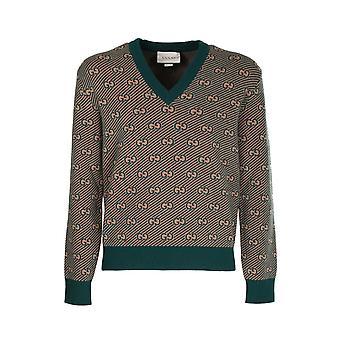 Gucci 626643xkbfz3119 Men's Green Wool Sweater
