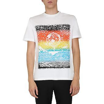 Paul Smith M1r919tep193701 Miesten's Valkoinen Puuvilla T-paita