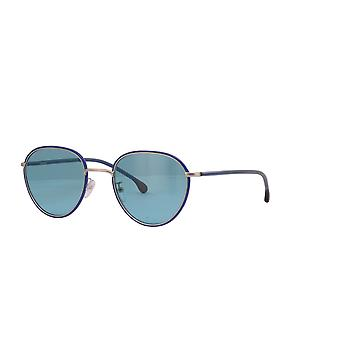Paul Smith ALBION SUN PSSN003V2 04 Navy On Gold/Brown Sunglasses