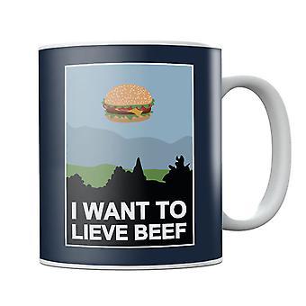 I Want To Lieve Beef Mug