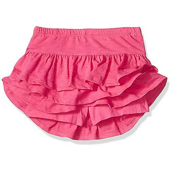 Spotted Zebra Big Girls' 2-Pack Knit Ruffle Scooter Skirts, Floral/Purple, X-...