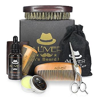 Mannen trimmen Beard Care Kit- Scissor, Comb, Oil Growth Styling Shaping