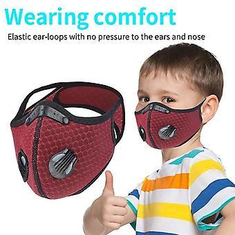 Children's Outdoor Riding Multifunctional Sports Mask - Åndbar Åndedrætsværn, der kan vaskes gentagne gange