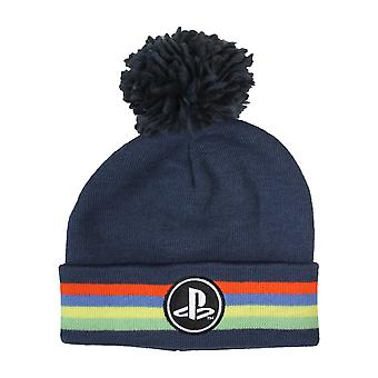 Playstation Classic Logo Girls Beanie with Pom | Official Merchandise