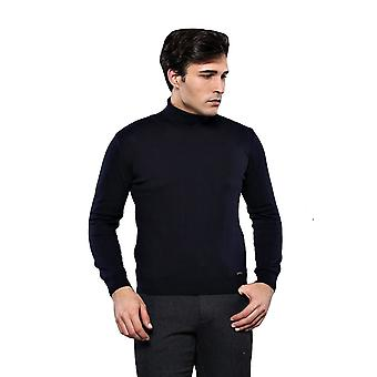 Turtleneck navy sweater | wessi
