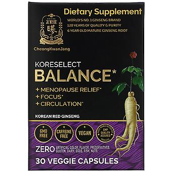 Cheong Kwan Jang, Koreselect, Balance, 30 Veggie Capsules