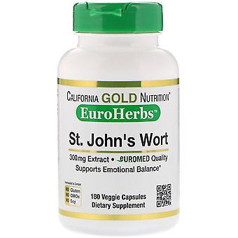 California Gold Nutrition, St. John's Wort Extract, EuroHerbs, europeisk kvalitet,