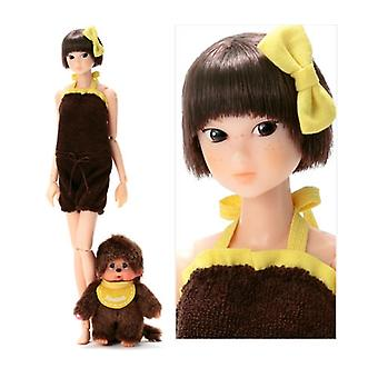 Sekiguchi Petworks WakeUp Momoko Doll Monchhichi Amarelo 40th Aniversary Limited