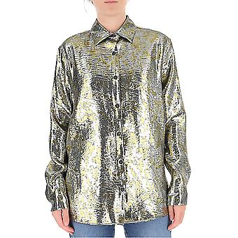 Dries Van Noten 107721347952 Women's Gold Silk Shirt