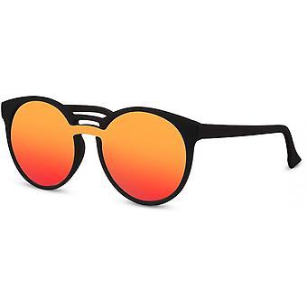 Okulary przeciwsłoneczne Unisex okrągłe czarne/pomarańczowe/czerwone (CWI2205)