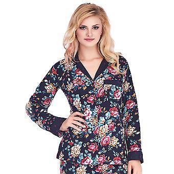 Mio salon Sally Dark Blue et vin Floral Polka Dot brossé doux coton Pyjama PJs Set ML16C2PJ