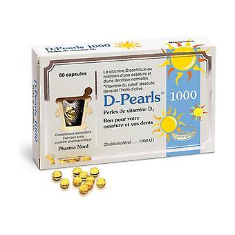D-Pearls 1000 vitamin D3 80 tablets